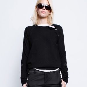 Zadig & Voltaire Reglis LC Sweater Burgundy